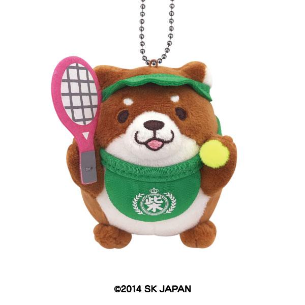 忠犬もちしば ぬいぐるみボールチェーン(テニス)