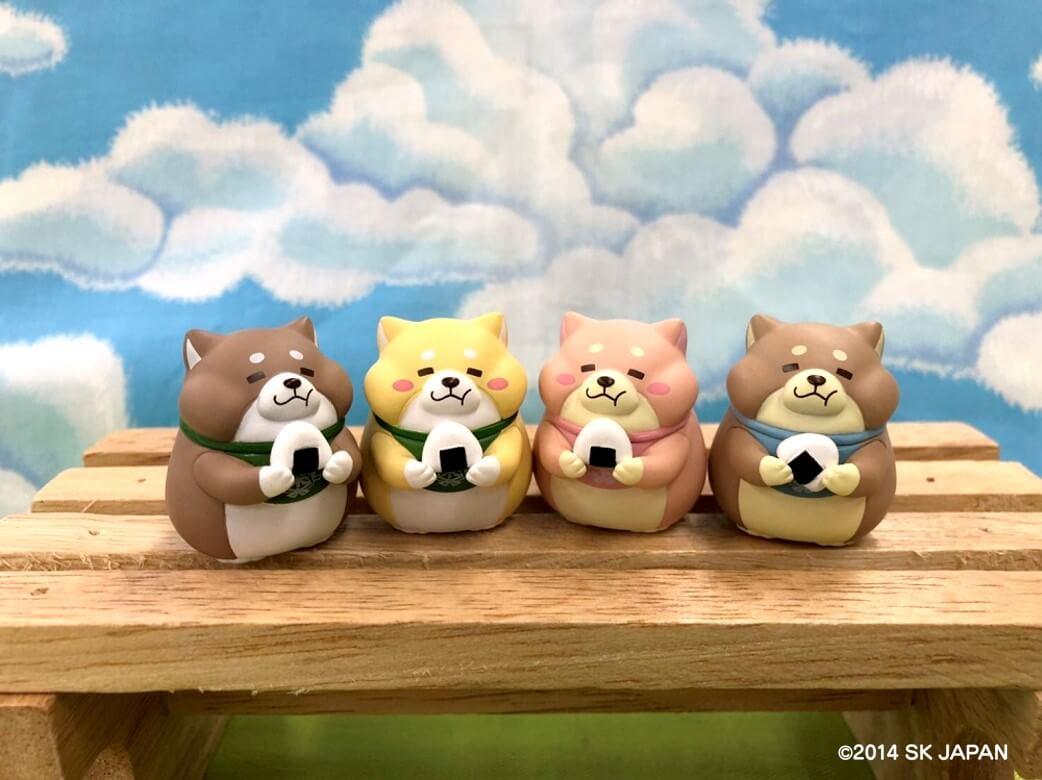 うえまち団子 4匹(左から あんこ・きなこ・さくら・もなか)