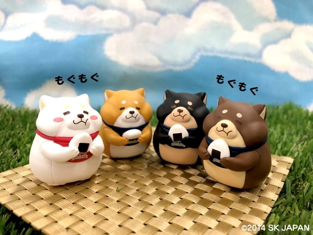 ことぶき米店 4匹(左から うめ・おかか・ごま・つな)