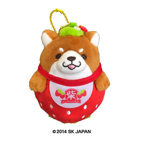 忠犬もちしば福岡限定ぬいぐボールチェーン(あまおうおかか)